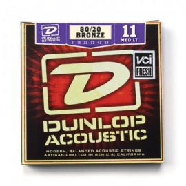 Dunlop DAB1152 Medium Light 80/20 Bronze 11-52 Acoustic Guitar Strings