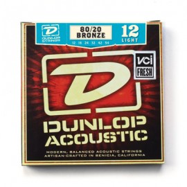 Dunlop DAB1254 Light 80/20 Bronze 12-54 Acoustic Guitar Strings