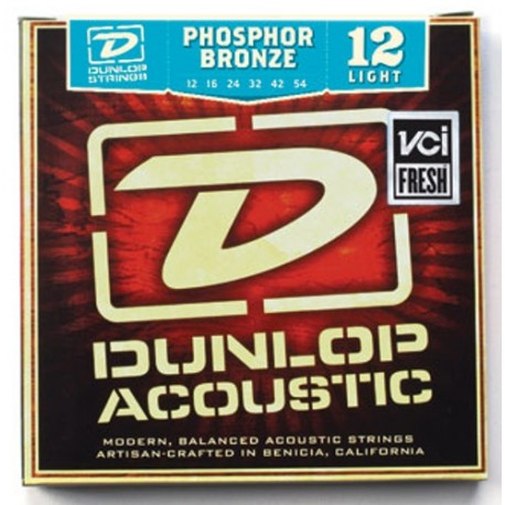 Dunlop DAP1254 Light Phosphor Bronze 12-54 Acoustic Guitar Strings