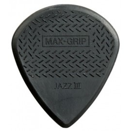 Jim Dunlop 471R3S Nylon Max-Grip Jazz III Guitar Pick - Bag of 12