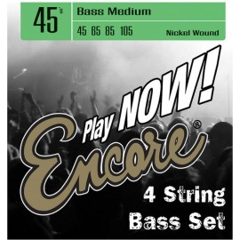 Encore EBS45 Medium 45-105 Nickel Wound Electric Bass Strings