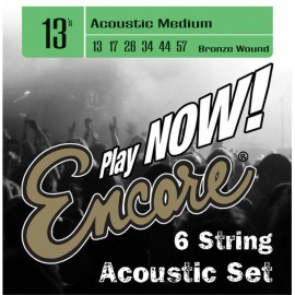 Encore EWS13 Medium 13-57 Bronze Wound Acoustic Guitar Strings