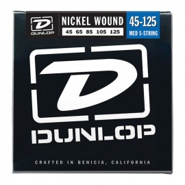 Dunlop DBN45125 5 String 45-125 NICKEL Plated Medium Bass Strings