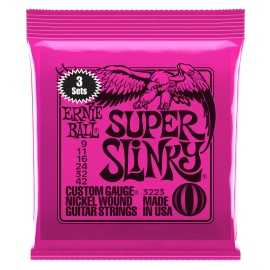 Ernie Ball 3223 3 SET PACK Super Slinky Nickel Wound 09-42 Electric Guitar Strings