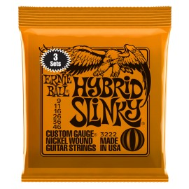 Ernie Ball 3222 3 SETs PACK Hybrid Slinky Nickel Wound 09-46 Electric Guitar Strings