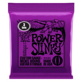 Ernie Ball 3220 3 SET PACK Power Slinky Nickel Wound 11-48 Electric Guitar Strings