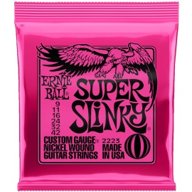 Ernie Ball Super Slinky 09-42 Nickel Electric Guitar Strings 2223