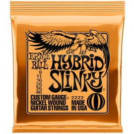 Ernie Ball Hybrid Slinky 09-46 Nickel Electric Guitar Strings 2222