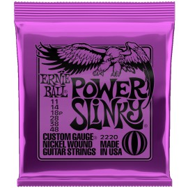 Ernie Ball Power Slinky 11-48 Nickel Electric Guitar Strings 2220