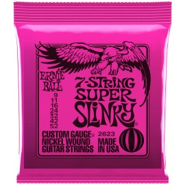 Ernie Ball 2623 7 String Super Slinky Nickel Wound 09-52 Electric Guitar Strings