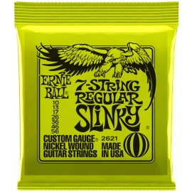 Ernie Ball 2621 7 String Regular Slinky Nickel Wound 10-56 Electric Guitar Strings