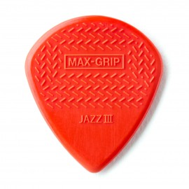 Jim Dunlop 471R3N Nylon Max-Grip Jazz III Guitar Pick - Bag of 12
