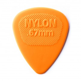 Dunlop Nylon Midi Standard - .67mm PIck 443R67 - Each (orange)