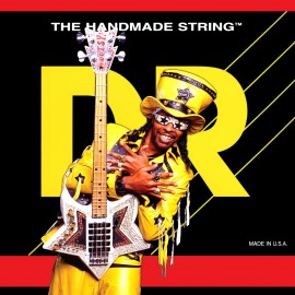 DR Handmade BZ-45  Bootsy Collins Bootzillas, Medium, Coated Stainless Steel Bass Strings 45 - 105