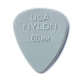 Jim Dunlop 44R60 Nylon Standard Guitar Pick .60mm