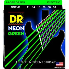 Dr Handmade Coated NEON GREEN 11-50 Heavy Nickel Electric Guitar Strings NGE-11