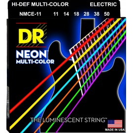 Dr Handmade NMCE-11 'Multi-Color Coated NIckel Plated' 11 - 50,  Heavy, Electric Guitar Strings