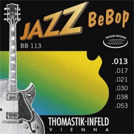 Thomastik-Infeld Jazz BeBop 13-53 Round Wound Nickel Electric Guitar Strings BB113
