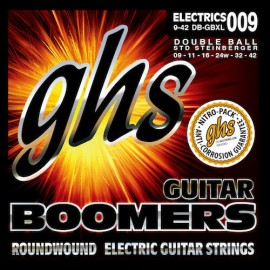 Ghs Double Ball End Boomers 09-42 Extra Light Nickel Electric Guitar Strings DB-GBXL