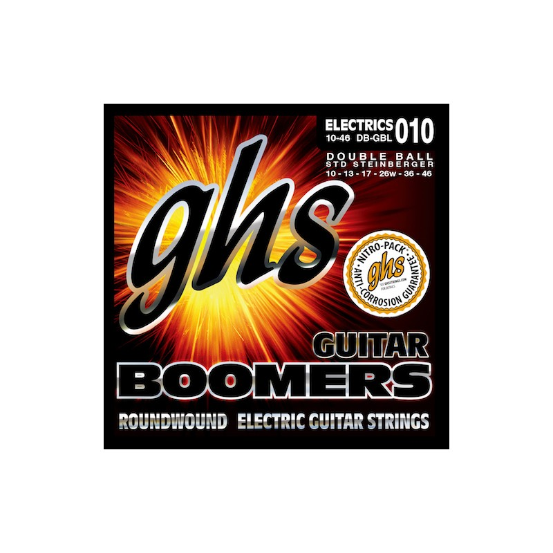 ghs double ball end boomers 10 46 light nickel electric guitar stri. Black Bedroom Furniture Sets. Home Design Ideas