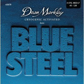 Dean Markley 5 String Blue Steel 45-128 Stainless Steel Medium Light Bass Guitar Strings 2679