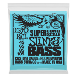 Ernie Ball 2849 'Super Long Scale Slinky Roundwound' 45 - 105, Bass Guitar Strings