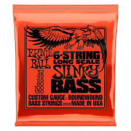Ernie Ball 6 String Long Scale Slinky Bass