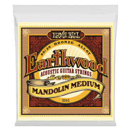 Ernie Ball Earthwood 10-36 Loop End Medium 80/20 Bronze Mandolin Strings 2065
