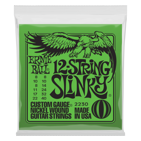 Ernie Ball 2230 12 String Slinky Nickel Wound 08-40 Electric Guitar Strings