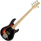 SUB RAY5 Vintage Sunburst Satin 5 String Bass with Maple Fretboard by Stirling By Musicman