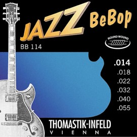 Thomastik-Infeld Jazz BeBop 14-55 Round Wound Nickel Electric Guitar Strings BB114