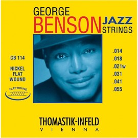 Thomastik-Infeld George Benson 14-55 Flatwound Nickel Electric Guitar Strings GB114