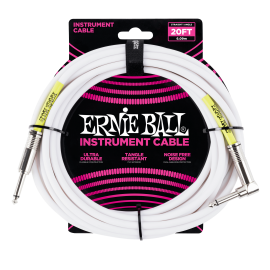 Ernie Ball White 20ft Classic Ultraflex Instrument Cable P06047