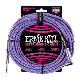 Ernie Ball Purple 25ft Braided Instrument Cable P06069