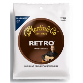 Martin MTR13 RETRO Bluegrass 13-56 Monel Acoustic Guitar Strings