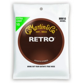 Martin RETRO 10-47 Extra Light Monel Acoustic Guitar Strings MM10