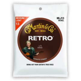 Martin RETRO 13-56 Monel LJ's Choice Medium Light Acoustic Guitar Strings MLJ13