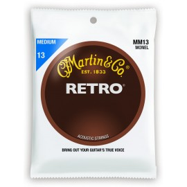 Martin MM13 RETRO Medium-Light 13-56 Monel Acoustic Guitar Strings