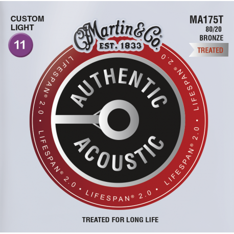 Martin Lifespan 2 0 11 52 Custom Light 80 20 Bronze
