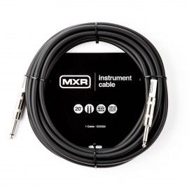 MXR Standard Black 20ft Instrument Cable Straight-Straight Jacks DCIS20