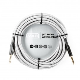 MXR Pro Woven Silver 24ft Instrument Cable Straight-Straight Jacks DCIW24