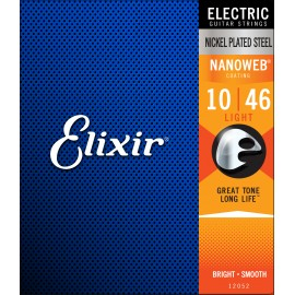 Elixir NANOWEB Coating 10-46 Light Nickel Electric Guitar Strings 12052