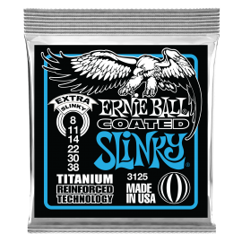 Ernie Ball Coated RPS Extra Slinky 08-38 Titanium Electric Guitar Strings 3125