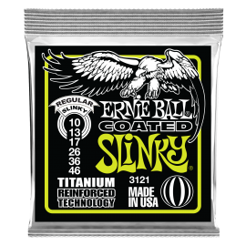 Ernie Ball Coated RPS Regular Slinky 10-46 Titanium Electric Guitar Strings 3121
