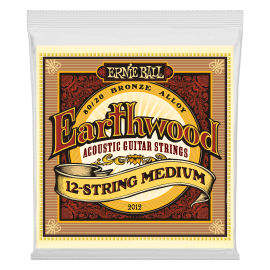Ernie Ball Earthwood 12 String 11-52 Medium 80/20 Bronze Acoustic Guitar Strings 2012