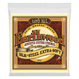 Ernie Ball Earthwood 10-50 Extra Soft Silk & Steel Acoustic Guitar Strings 2047