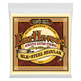 Ernie Ball Earthwood 13-56 Regular Silk & Steel Acoustic Guitar Strings 2043