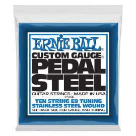 Ernie Ball 10 String E-9 Tuning 13-38 Stainless Steel Pedal Steel Strings 2504
