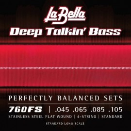 La Bella Deep Talkin' Bass 45-105 Flatwound S/Steel Bass Strings 760FS