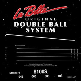 La Bella Double Ball System 45-105 Round Wound Light S/Steel Bass Strings S100S